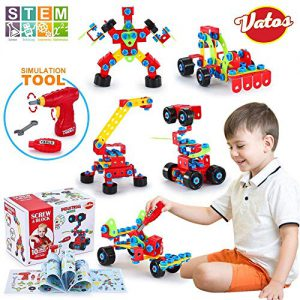Vatos Jouets de Construction STEM Kit de Jouets d'apprentissage Ensemble de Blocs de Construction Originaux d'ingénierie Jouet pour Les Enfants de 6 Ans Garçons et Filles 552 PCS